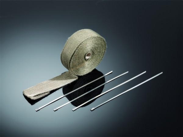 Auspuff Hitzeschutzband, 10m, Titanium