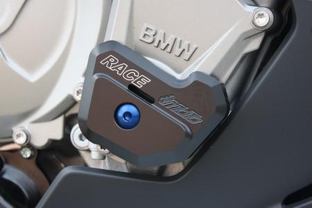 S1000RR GSG Sturzpads Vorderrad+Hinterrad BMW S1000R HP4 1000 Inlay Blau